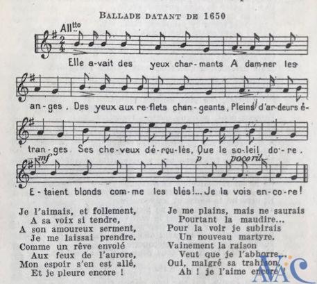 Ballade autour du désir en 1650 par Paul Fort