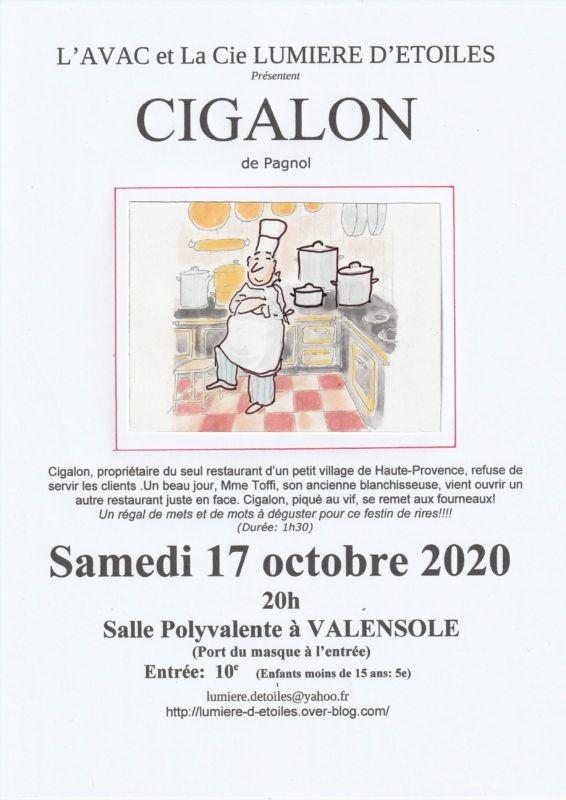 Pièce de théâtre Cigalon